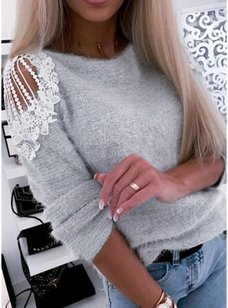 Solide Kant Cold Shoulder Casual Truien