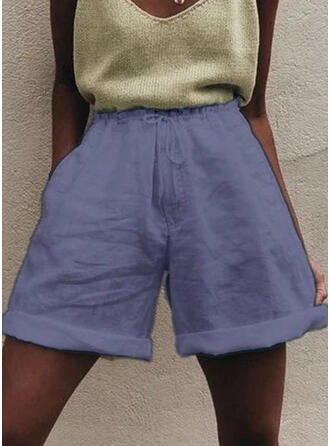 Solide Casual Solide Shorts
