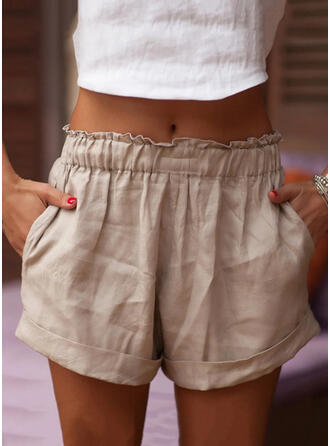 Solide Boven de knie Casual Solide Shorts