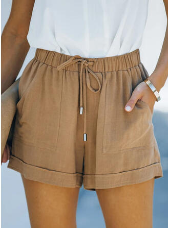 Solide Casual Wijnoogst Shorts