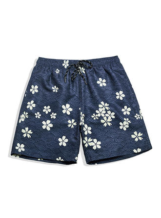 Heren Bloemen bekleed Board Shorts
